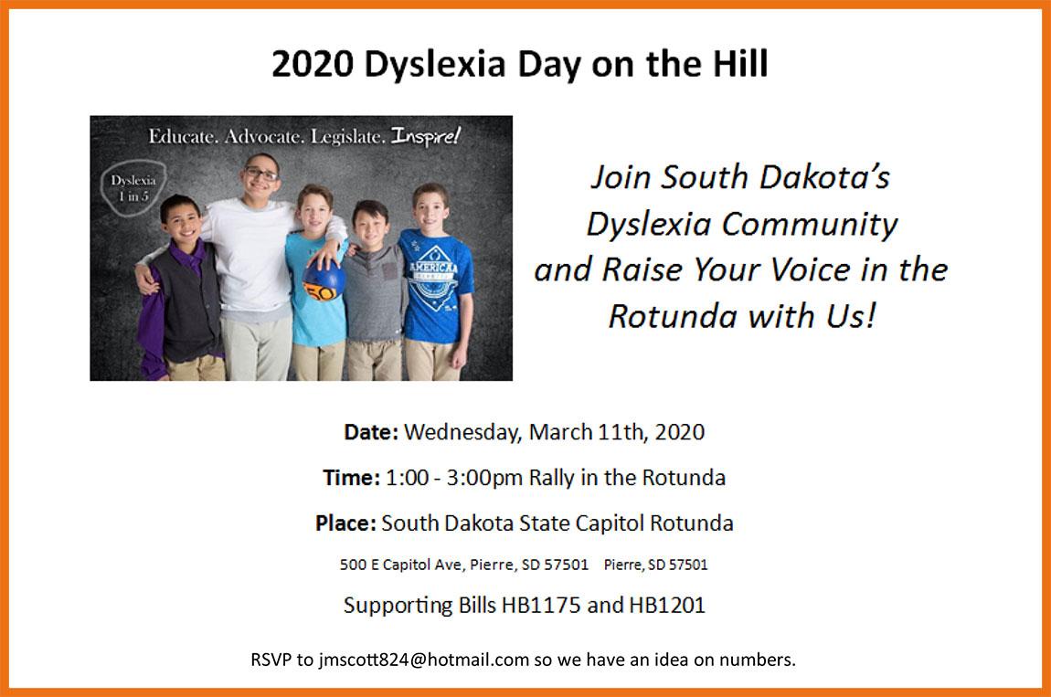 2020 Dyslexia Day on the Hill @ South Dakota State Capitol Rotunda | Pierre | South Dakota | United States